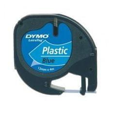 Dymo Trak za tiskanje LetraTag, širina 12mm, moder-plastificiran, 91205