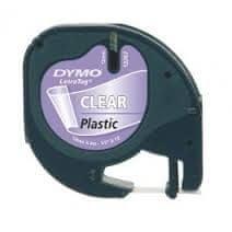 Dymo Trak LetraTag, širina 12mm, prozorn-plastificiran, 12267