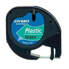 Dymo Trak LetraTag 12mm, zelen-plastificiran (912040)