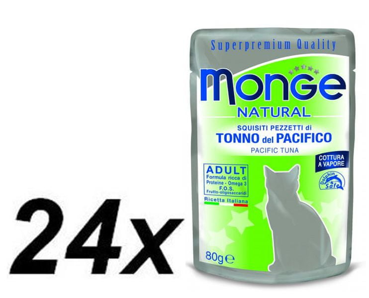 Monge NATURAL kapsička tuňák v želé pro kočky 24 x 80g
