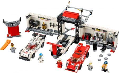 LEGO Speed Champions 75876 Porsche 919 Hybrid in dirkalni 917K