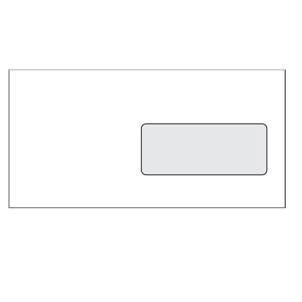 Obálka DL samolepicí s okénkem, 1000 ks,110 x 220