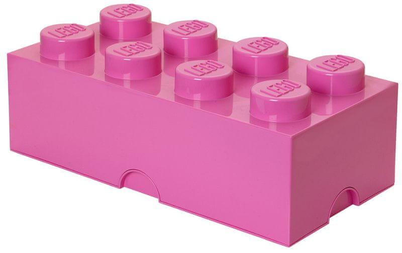 LEGO® Storage box 25x50 cm, růžová