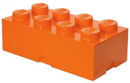 LEGO® Storage box 25x50 cm, oranžová