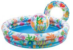 Intex Set bazén rybičky - bazén, kruh a lopta
