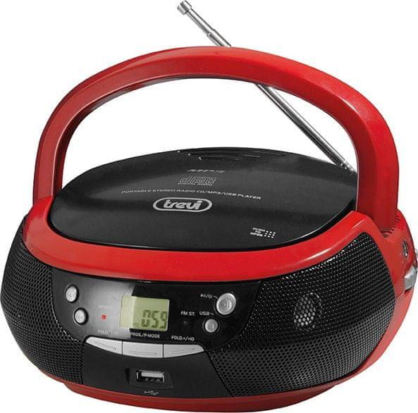 Trevi CMP 532 USB RD, černá/červená