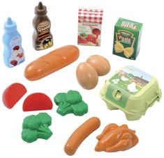 ECOIFFIER Plastové hračky potraviny v sieťke