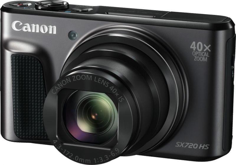 Canon PowerShot SX720 HS Black + 1000 Kč od Canonu zpět