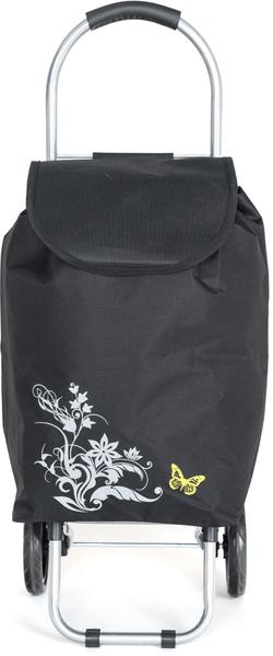 BRILANZ Nákupní taška na kolečkách 87x35x28 cm černá