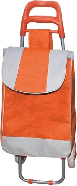 BRILANZ Nákupní taška na kolečkách 95x36x30 cm oranžová