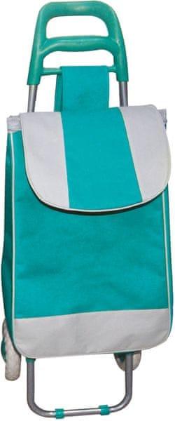 BRILANZ Nákupní taška na kolečkách 95x36x30 cm zelená