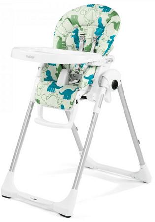 Peg Perego stolček za hranjenje Prima Pappa Zero 3, Dino Park Bianco
