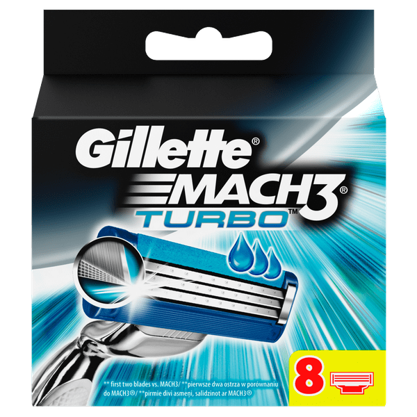 Gillette Mach3 Turbo Aloe náhradní hlavice 8ks
