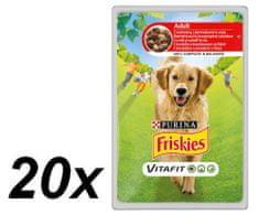 Friskies mokra hrana za odrasle pse VitaFit, govedina in krompir v omaki, 20 x 100 g