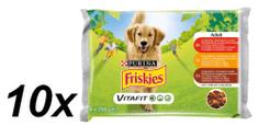 Friskies VitaFit ADULT s hovězím, kuřetem a jehněčím ve šťávě 10x(4x100g)
