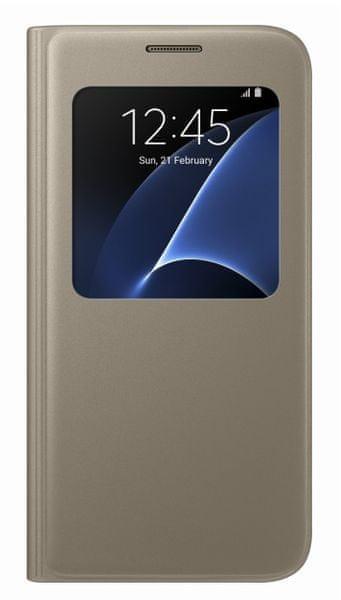 Samsung Samsung flipové pouzdro S-view, Galaxy S7, zlatá - II. jakost