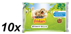 Friskies VitaFit JUNIOR s kuřetem a mrkví ve šťávě 10x(4x100g)