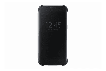 Samsung flipové pouzdro Clear View, Galaxy S7, černé - II. jakost