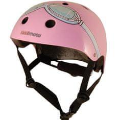 Kiddimoto otroška čelada Pink Goggle