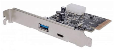 Manhattan Kartica PCI express-USB 3.1 1x Type-C, 1x Type-A