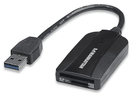 Manhattan Čitalec kartic 24v1 (SD,mSD,MMC), USB 3.0, Manhattna