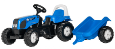 Rolly Toys Traktor Rolly Kid Landini, niebieski z przyczepką