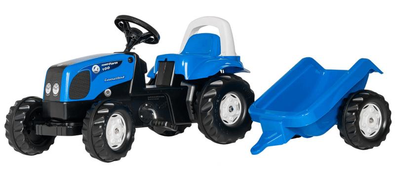 Rolly Toys Šlapací traktor Rolly Kid Landini modrý s vlekem