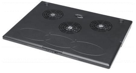 Manhattan Hladilnik/podstavek za prenosnik 3x 60mm vent., USB