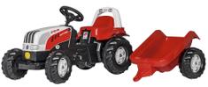 Rolly Toys Šliapací traktor Rolly Kid Steyer s vlečkou-červený