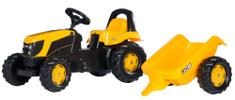 Rolly Toys traktor s prikolico na pedala JCB, rumen
