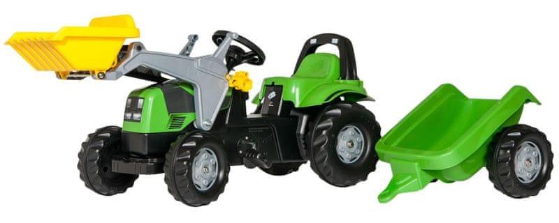 Rolly Toys Šlapací traktor Rolly Deutz s přívěsem a nakladačem