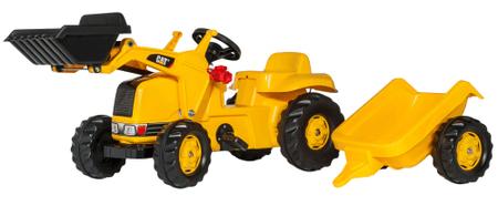Rolly Toys Koparka Caterpillar z przyczepą, żółta