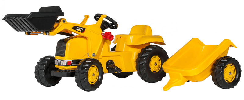 Rolly Toys Nakladač Caterpillar s vlečkou - žlutý