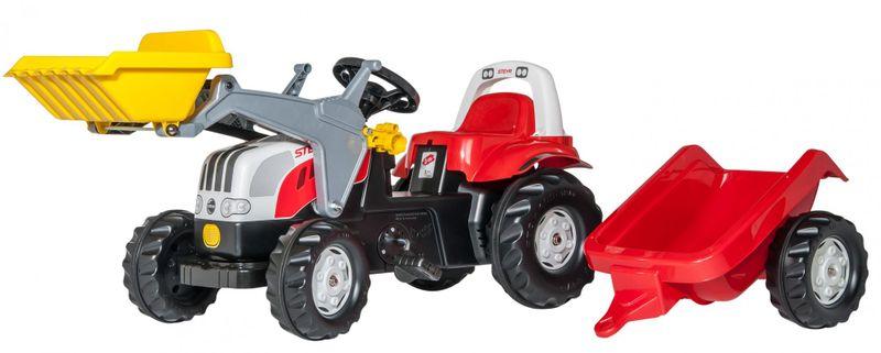 Rolly Toys Šlapací traktor Rolly Kid Steyr nakladač s přívěsem