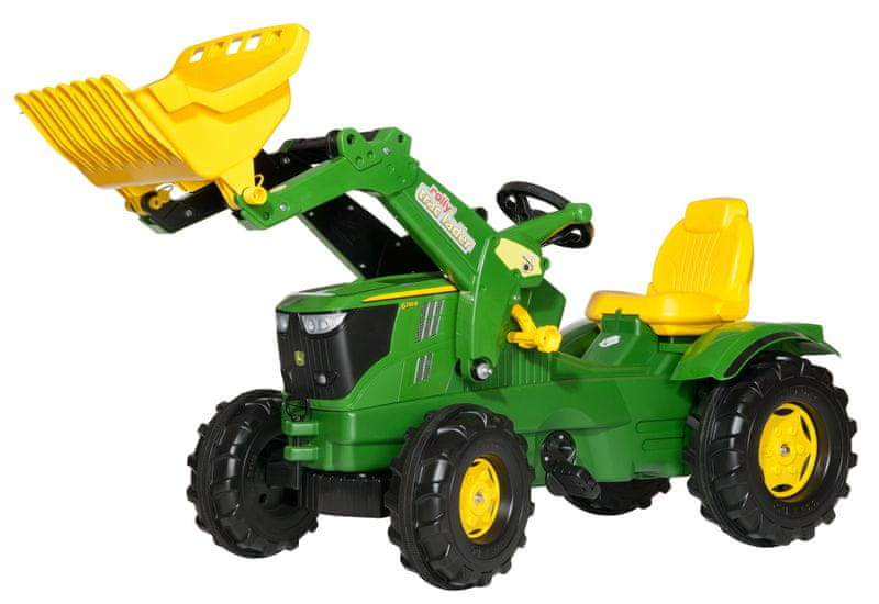 Rolly Toys Šlapací traktor John Deere s předním nakladačem Farmtrac