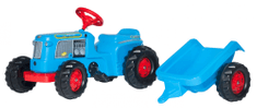 Rolly Toys traktor na pedala s prikolico Kid Classic, moder