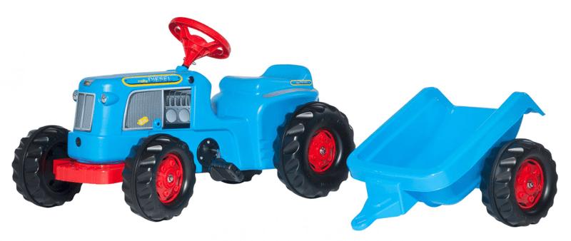 Rolly Toys Šlapací traktor Kid Classic s vlečkou modrý