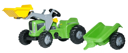 Rolly Toys Traktor na pedala Kid Futura z nakladačem