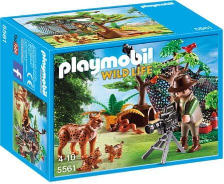 Playmobil Rodzina rysiów z kamerzystą 5561