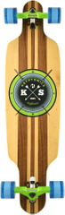Kryptonics longboard Cast Off 38""