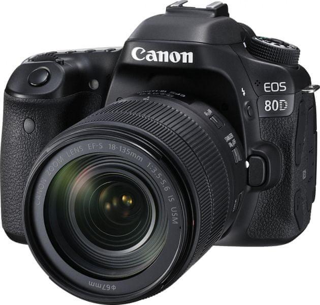 Canon EOS 80D + 18-135 IS USM + 3000 Kč od Canonu zpět