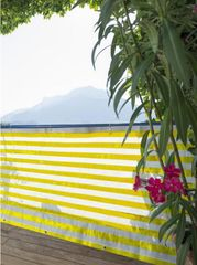 Windhager balkonska ograja Ibiza 0,9x5 m, rumeno-bela, tkanina (06147)