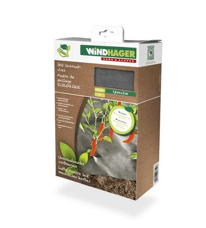 Windhager koprena ECO proti plevelu, 5x1,6 m, črna, 50 g (06719)