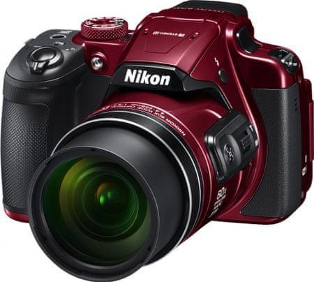 Nikon digitalni fotoaparat Coolpix B700, rdeč