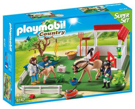Playmobil SuperSet Wybieg dla koni z boksem 6147