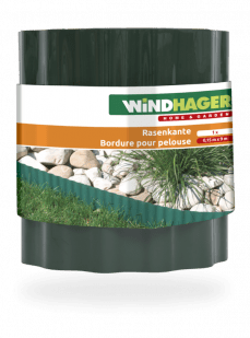 Windhager PVC vrtna obroba, 0,2 x 9 m, siva (06413)