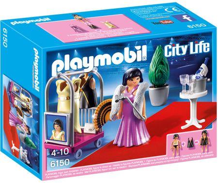 Playmobil slavna oseba na rdeči preprogi 6150