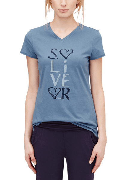 s.Oliver dámské tričko na spaní 40 modrá