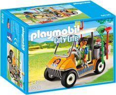 Playmobil skrbnik v živalskem vrtu z avtom 6636