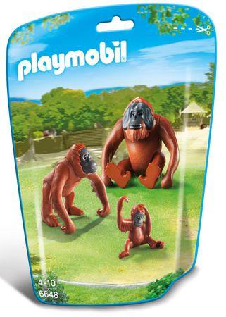 Playmobil orangutan z mladiči 6648